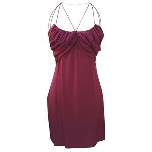 Gucci Silk Mini Dress - Maroon - EU 42